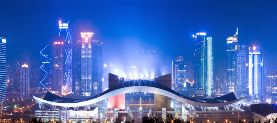 night scene of shenzhen city